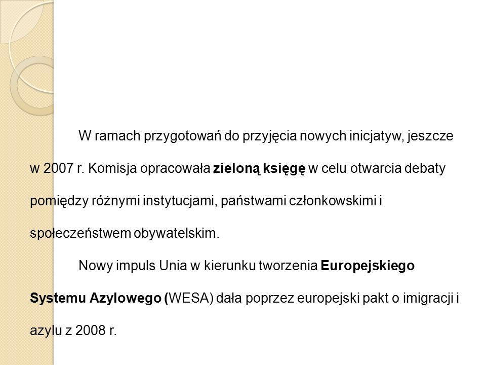 W ramach przygotowań do przyjęcia nowych inicjatyw, jeszcze w 2007 r. Komisja opracowała zieloną księgę w celu otwarcia debaty pomiędzy różnymi instyt