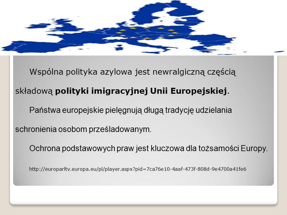 Wspólna polityka azylowa jest newralgiczną częścią składową polityki imigracyjnej Unii Europejskiej. Państwa europejskie pielęgnują długą tradycję udz