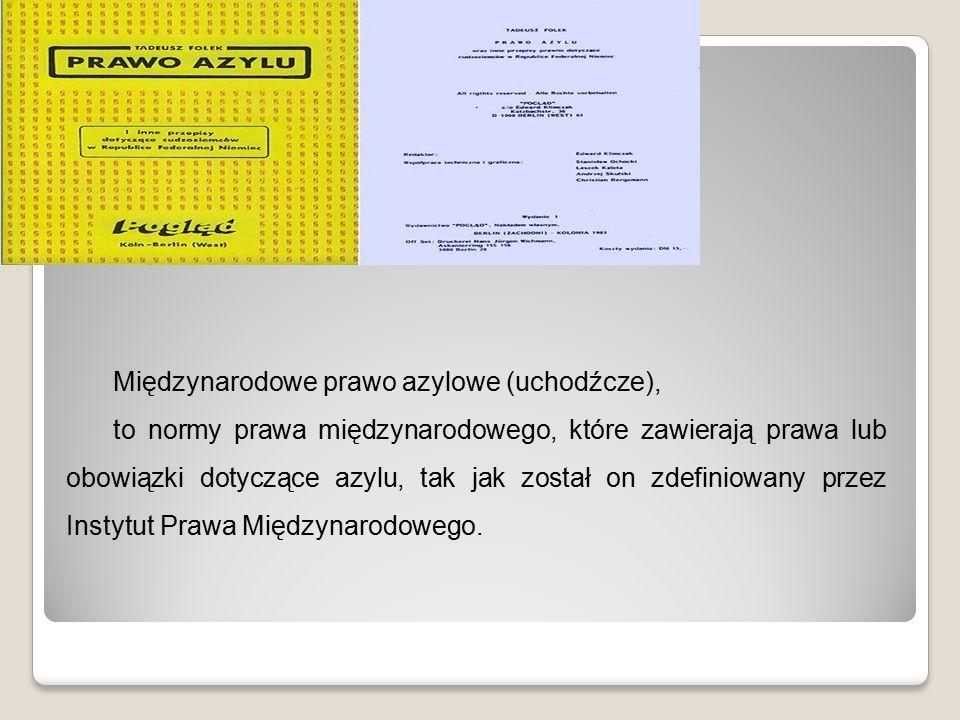 Status uchodźcy Wszczęcie procedury udzielenia azylu w Polsce powoduje złożenie wniosku o azyl do Konsula Rzeczpospolitej w danym kraju bądź komendanta granicznej placówki kontrolnej Straży Granicznej.