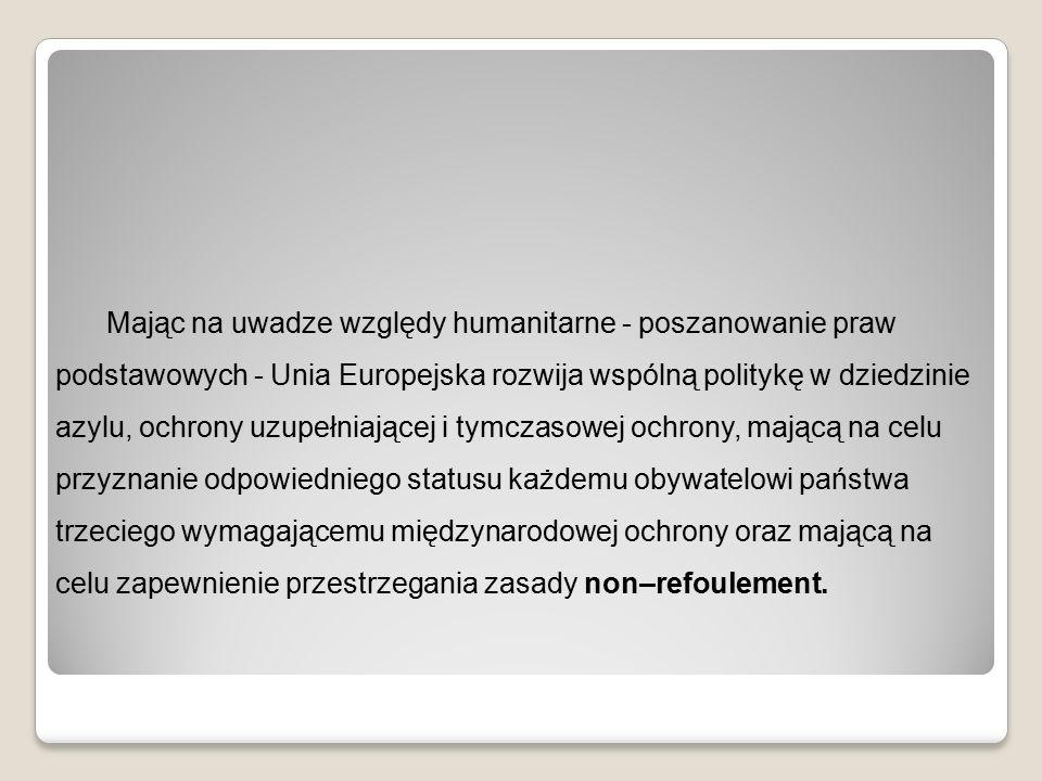Europejski Pakt na rzecz Imigracji i Azylu 16 października 2008 Pięć podstawowych zobowiązań: - Organizowanie legalnej imigracji, biorąc pod uwagę priorytety, potrzeby i zdolności przyjmowania określone przez każde państwo członkowskie, i sprzyjanie integracji - Zwalczanie nielegalnej imigracji, zwłaszcza poprzez zapewnienie powrotów cudzoziemców przebywających nielegalnie do państw pochodzenia lub tranzytu