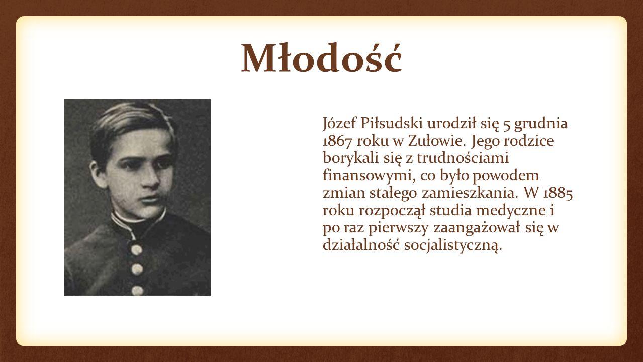 Młodość Józef Piłsudski urodził się 5 grudnia 1867 roku w Zułowie.