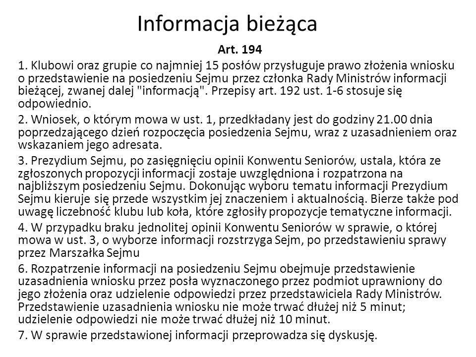 Informacja bieżąca Art. 194 1.