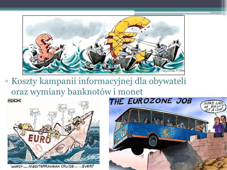 ▫Koszty kampanii informacyjnej dla obywateli oraz wymiany banknotów i monet