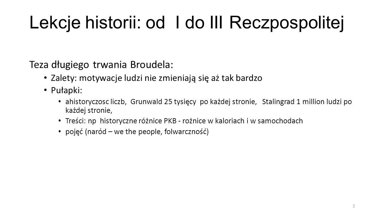 Lekcje historii: od I do III Reczpospolitej 4