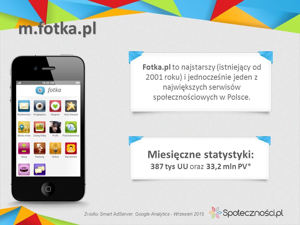 m.fotka.pl Fotka.pl to najstarszy (istniejący od 2001 roku) i jednocześnie jeden z największych serwisów społecznościowych w Polsce.