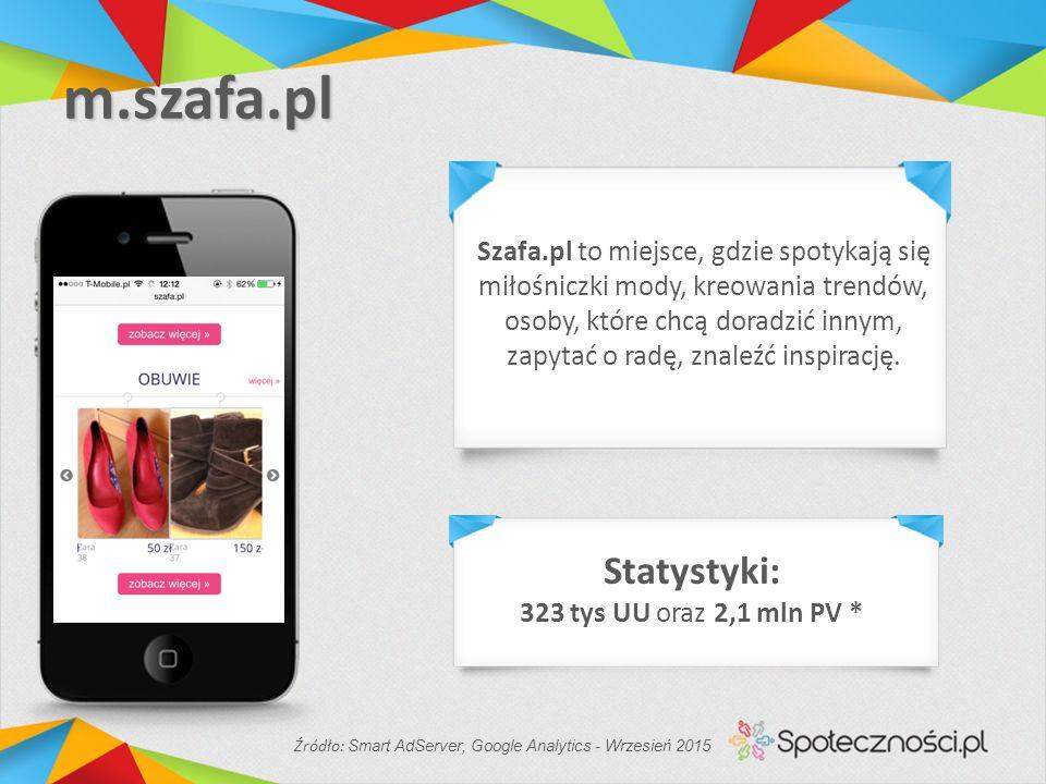 m.szafa.pl Szafa.pl to miejsce, gdzie spotykają się miłośniczki mody, kreowania trendów, osoby, które chcą doradzić innym, zapytać o radę, znaleźć inspirację.