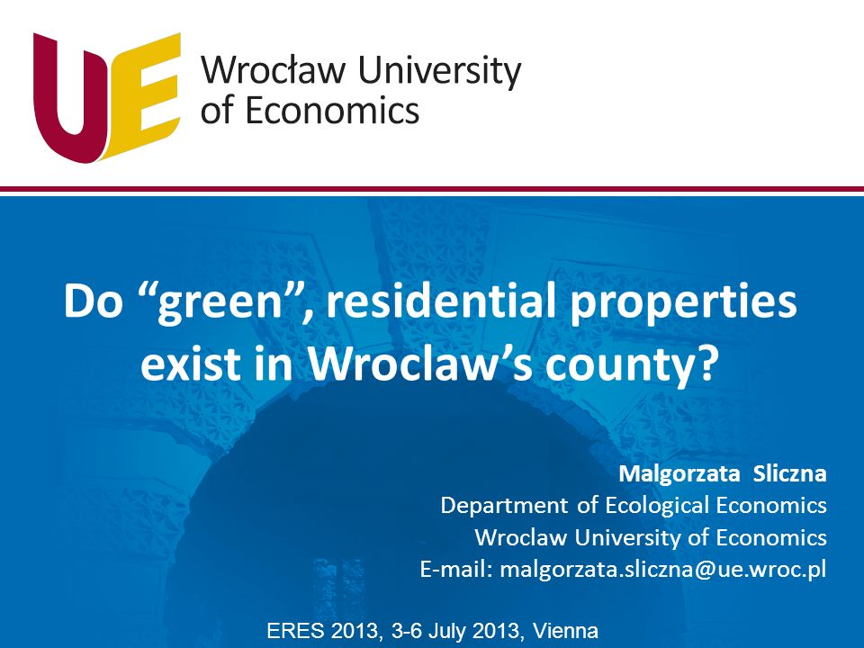 Do green , residential properties exist in Wroclaw's county.