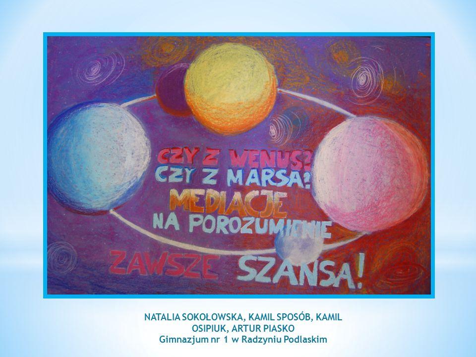 NATALIA SOKOŁOWSKA, KAMIL SPOSÓB, KAMIL OSIPIUK, ARTUR PIASKO Gimnazjum nr 1 w Radzyniu Podlaskim