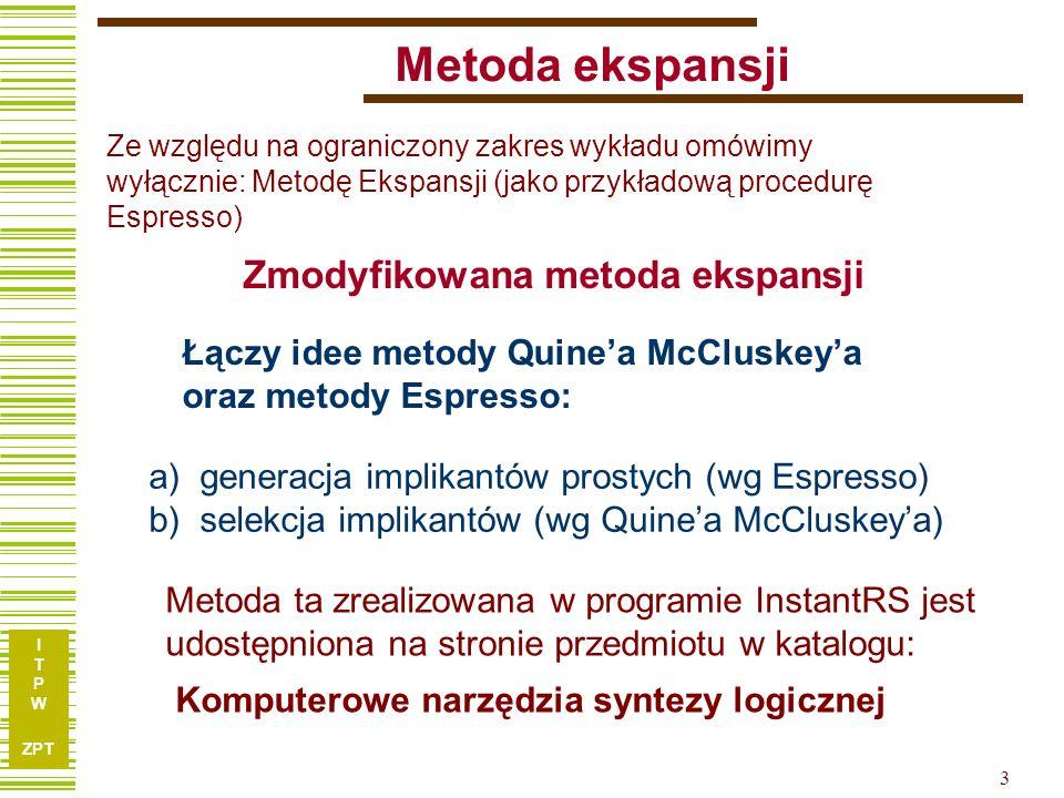 I T P W ZPT 24 Implementacja metody – program InstantRS