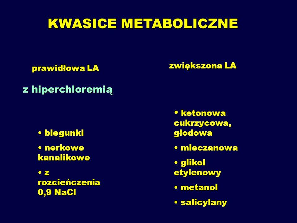 LUKA ANIONOWA (ANION GAP) c Na + - (c Cl - + cHCO 3 - ) =  NA -  NK 12  4 mmol/l