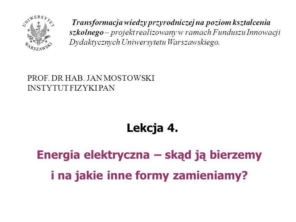 Transformacja wiedzy przyrodniczej na poziom kształcenia szkolnego – projekt realizowany w ramach Funduszu Innowacji Dydaktycznych Uniwersytetu Warszawskiego.