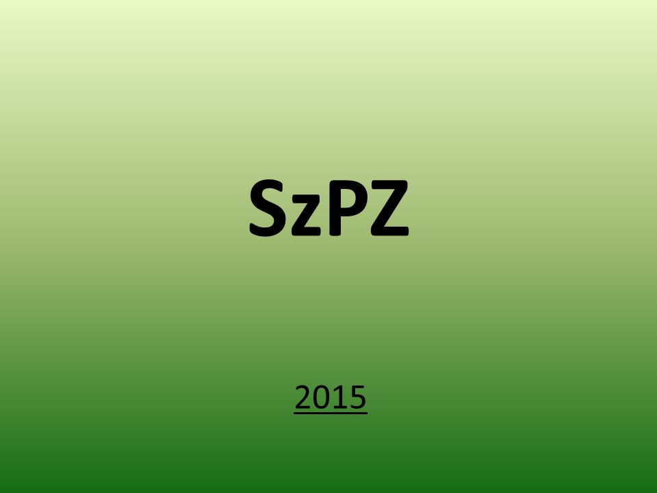 SzPZ 2015