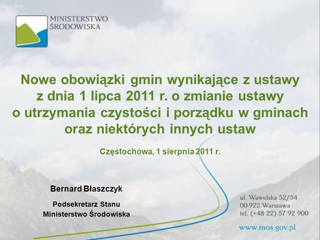 Nowe obowiązki gmin wynikające z ustawy z dnia 1 lipca 2011 r.