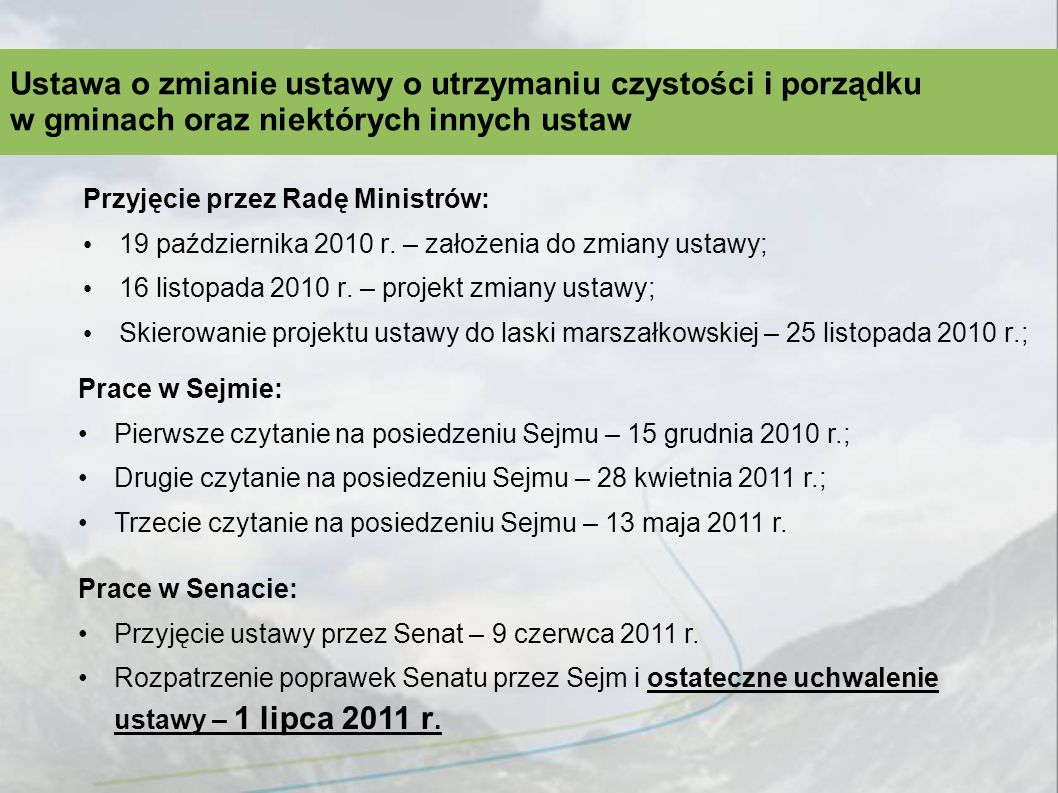 Przyjęcie przez Radę Ministrów: 19 października 2010 r.