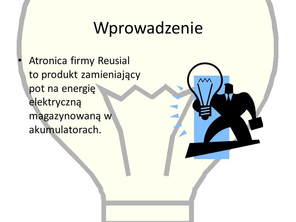 Wprowadzenie Atronica firmy Reusial to produkt zamieniający pot na energię elektryczną magazynowaną w akumulatorach.