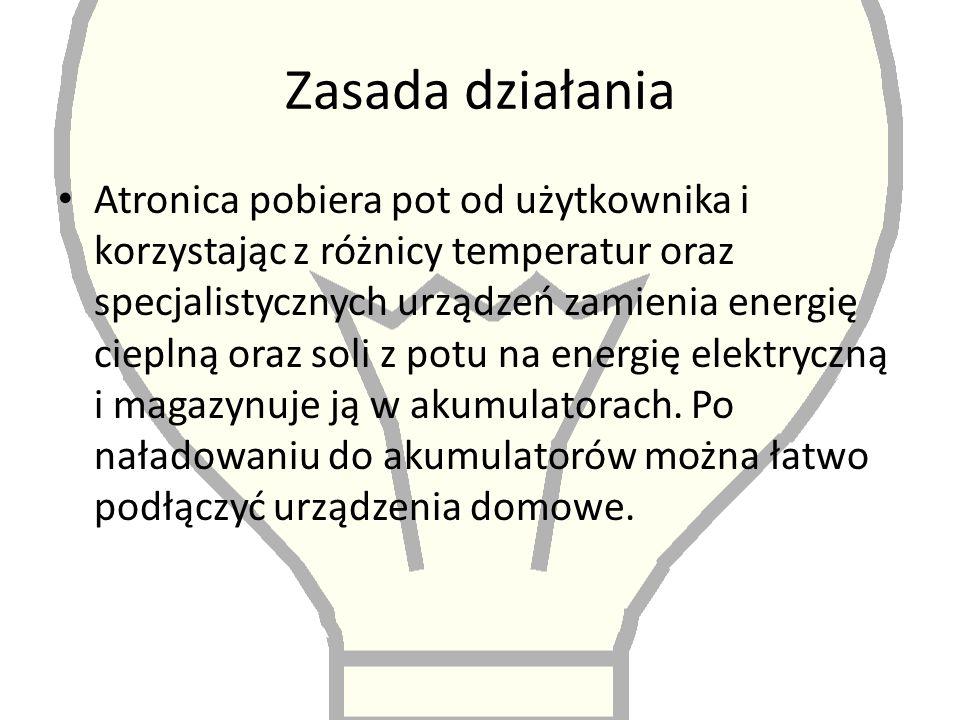 Efektywność Atronica wytwarza energię wystarczającą do zasilania 1/5 urządzeń domowych.