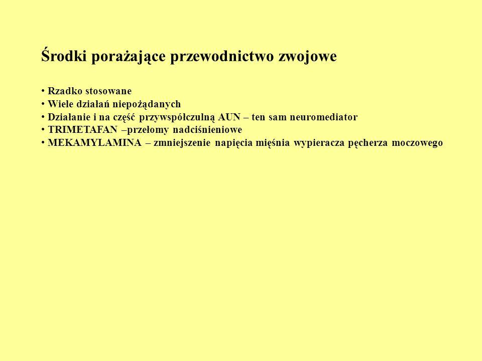ROLA WSPÓŁCZULNEGO AUN 1.Układ walczący 2.Reprezentacja w układzie krążenia 3.Reprezentacja w mięśniówce trzewnej (gł.