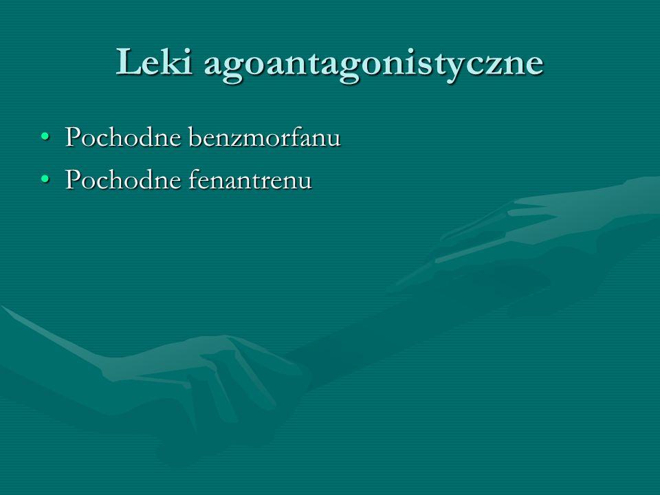 Leki agoantagonistyczne Pochodne benzmorfanuPochodne benzmorfanu Pochodne fenantrenuPochodne fenantrenu