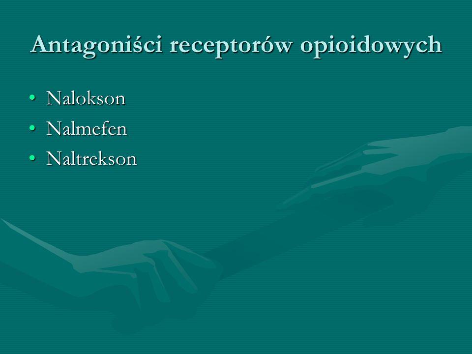 Antagoniści receptorów opioidowych NaloksonNalokson NalmefenNalmefen NaltreksonNaltrekson