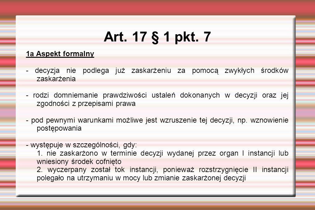Art. 17 § 1 pkt.