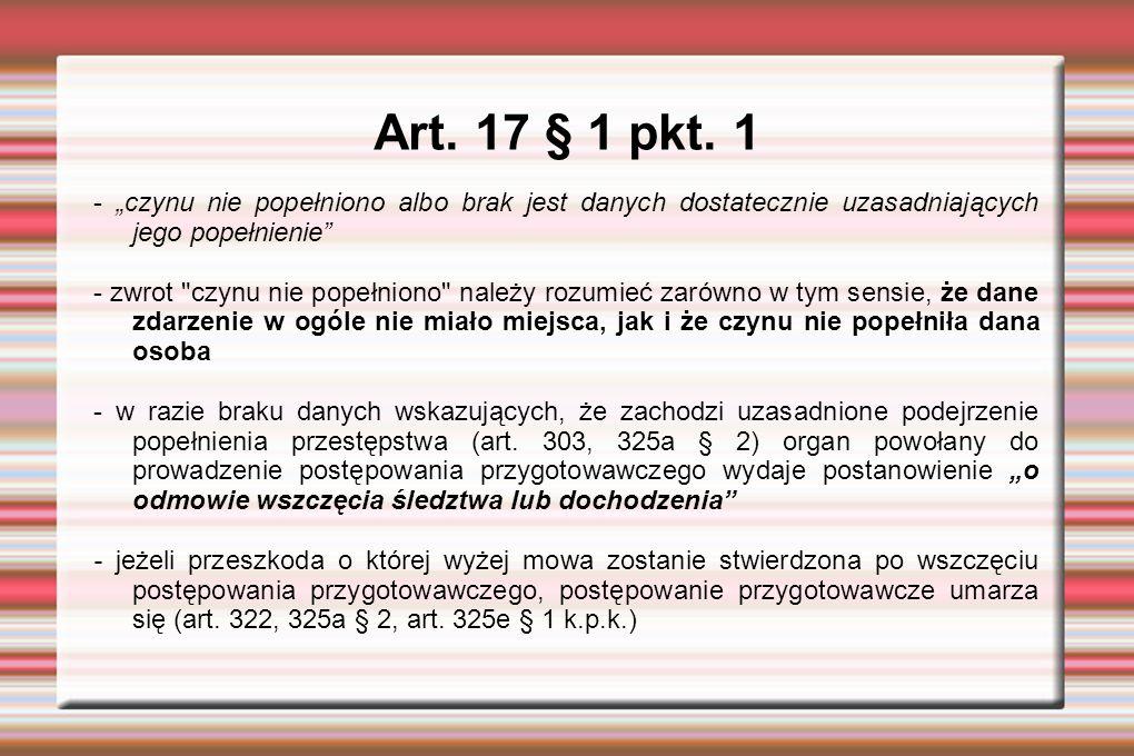 Art.17 § 1 pkt. 1 - w postępowaniu jurysdykcyjnym w myśl art.