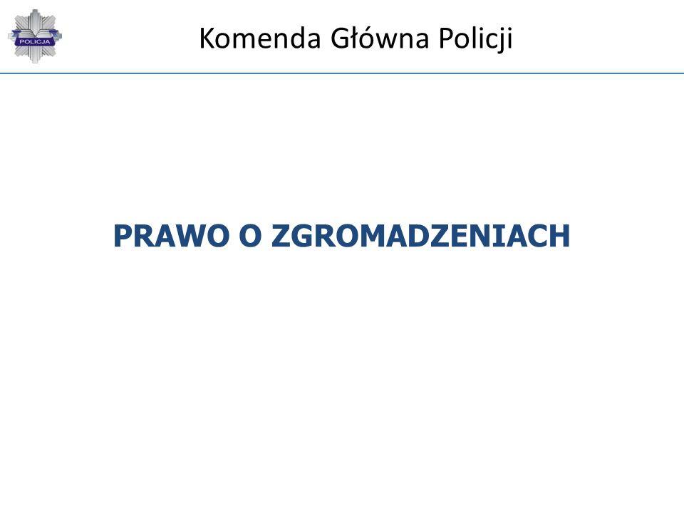 PRAWO O ZGROMADZENIACH Komenda Główna Policji