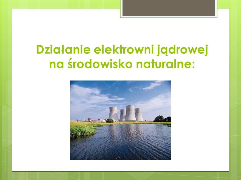 Działanie elektrowni jądrowej na środowisko naturalne: