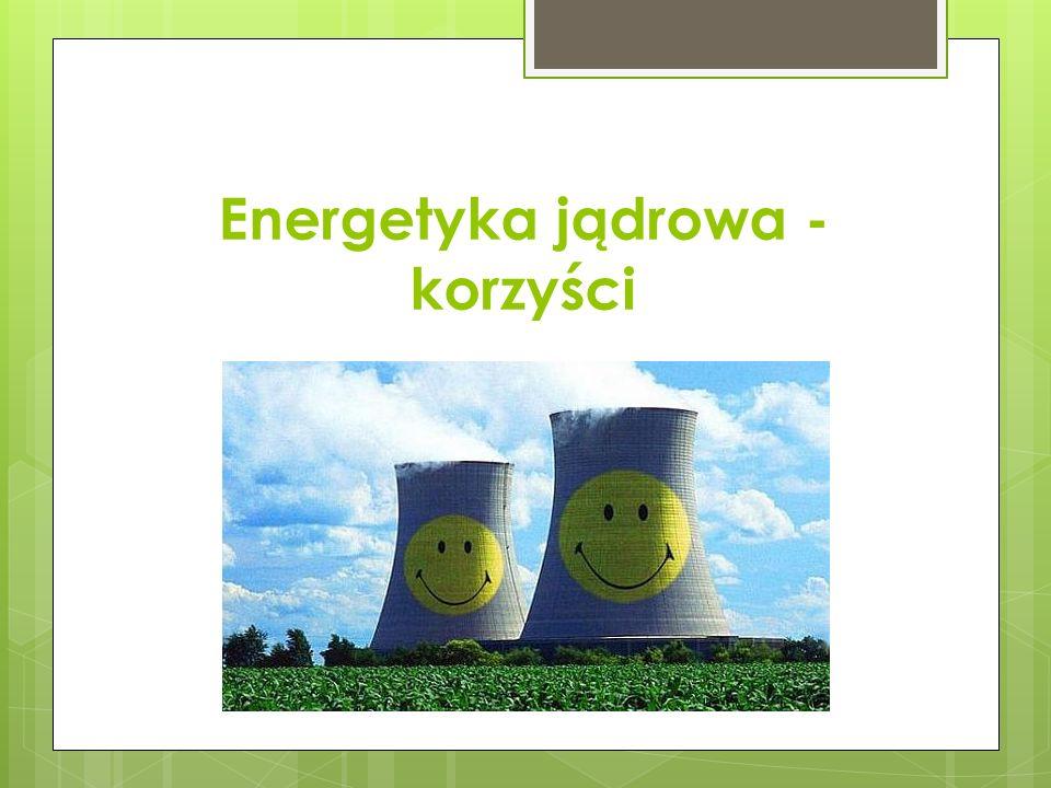  Ogromna koncentracja energii,  Obfite zasoby uranu i toru,  Ograniczona moc odnawialnych źródeł energii oraz ich negatywny wpływ na ekosystem,