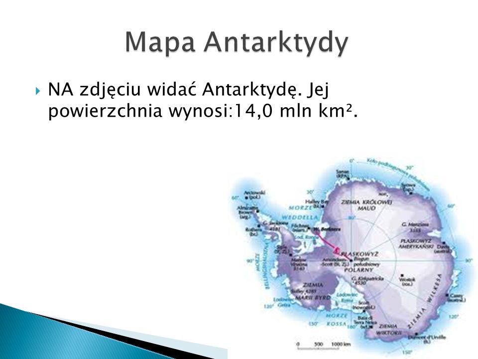  NA zdjęciu widać Antarktydę. Jej powierzchnia wynosi:14,0 mln km².