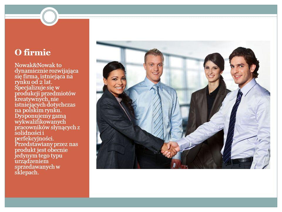 O firmie Nowak&Nowak to dynamicznie rozwijająca się firma, istniejąca na rynku od 2 lat.