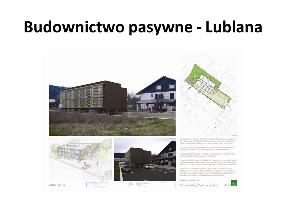 Budownictwo pasywne - Lublana