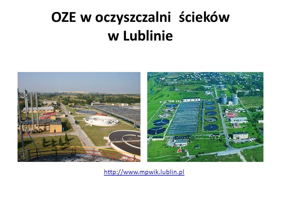 OZE w oczyszczalni ścieków w Lublinie http://www.mpwik.lublin.pl