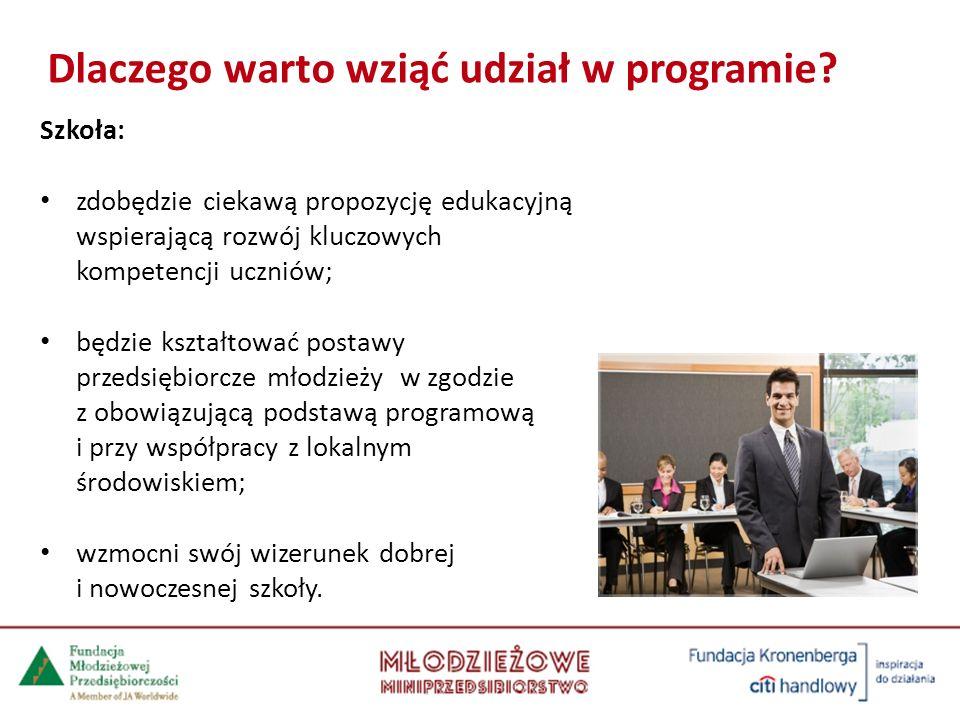 Szkoła: zdobędzie ciekawą propozycję edukacyjną wspierającą rozwój kluczowych kompetencji uczniów; będzie kształtować postawy przedsiębiorcze młodzież