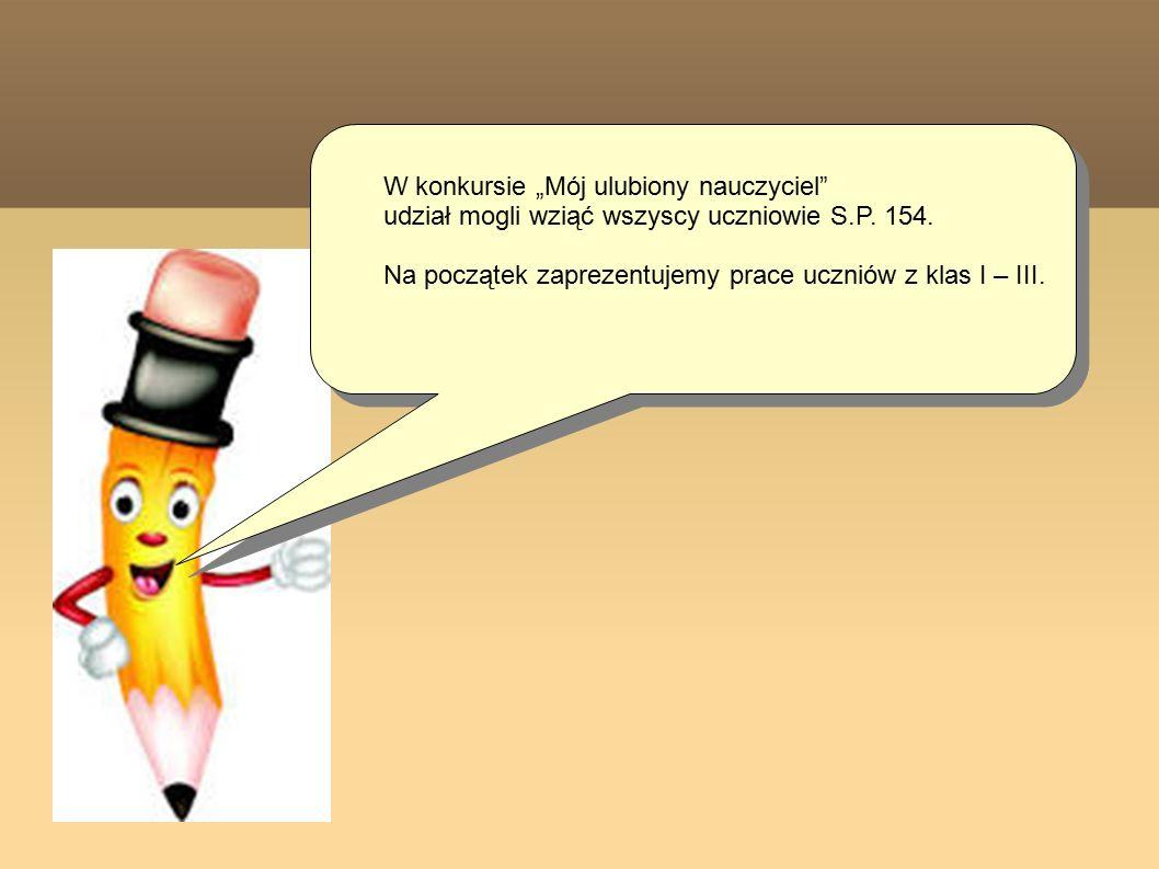 Prace klas IV - VI Miejsce 2 Pani Kamila Kruszyńska