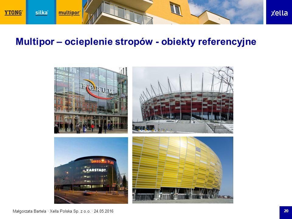 SilkaYtong Multipor 20 Multipor – ocieplenie stropów - obiekty referencyjne Małgorzata Bartela · Xella Polska Sp.