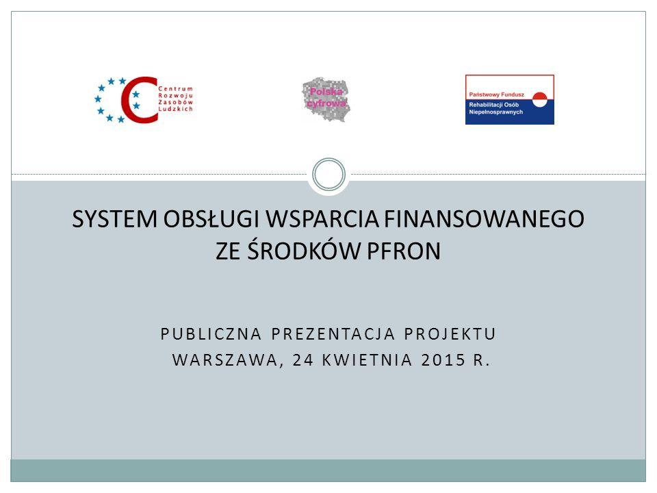 PUBLICZNA PREZENTACJA PROJEKTU WARSZAWA, 24 KWIETNIA 2015 R.