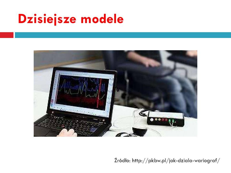 Kardiograf (CA) mierzy aktywność układu sercowo- naczyniowego Źródło: http://kryminalistyka.wortale.net/