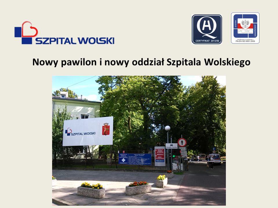 Nowy pawilon i nowy oddział Szpitala Wolskiego