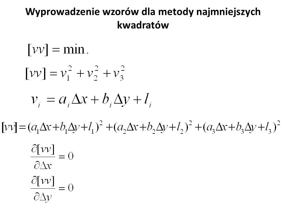 Równania błędów: