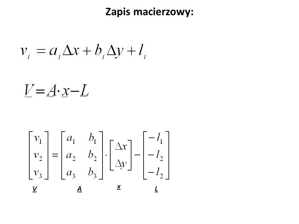 Wyprowadzenie wzorów dla metody najmniejszych kwadratów