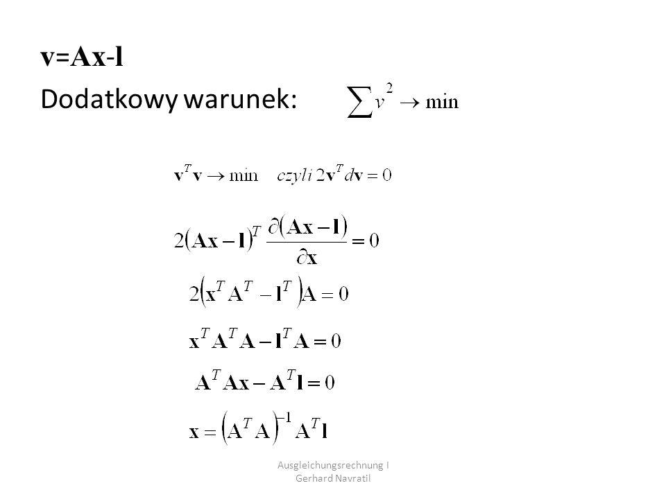 Zapis macierzowy: VA x L