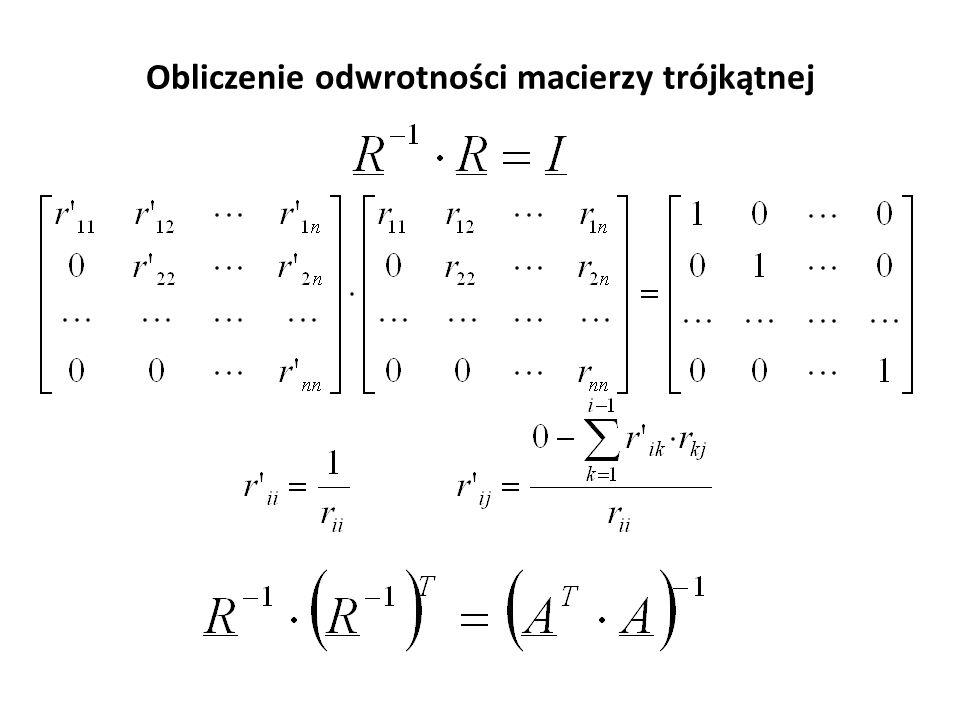 1. Rozkład macierzy na czynniki trójkątne