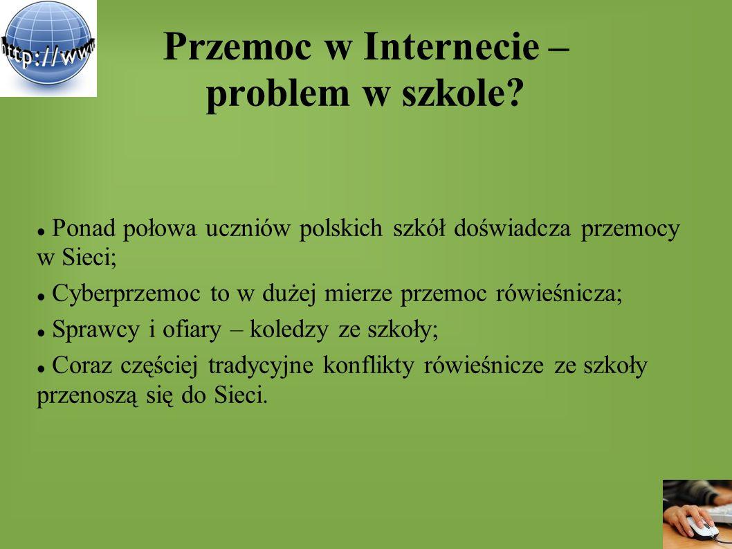 Przemoc w Internecie – problem w szkole? Ponad połowa uczniów polskich szkół doświadcza przemocy w Sieci; Cyberprzemoc to w dużej mierze przemoc rówie