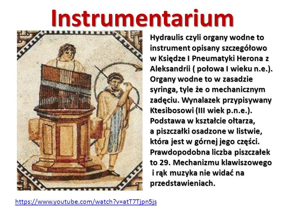 Instrumentarium Hydraulis czyli organy wodne to instrument opisany szczegółowo w Księdze I Pneumatyki Herona z Aleksandrii ( połowa I wieku n.e.).