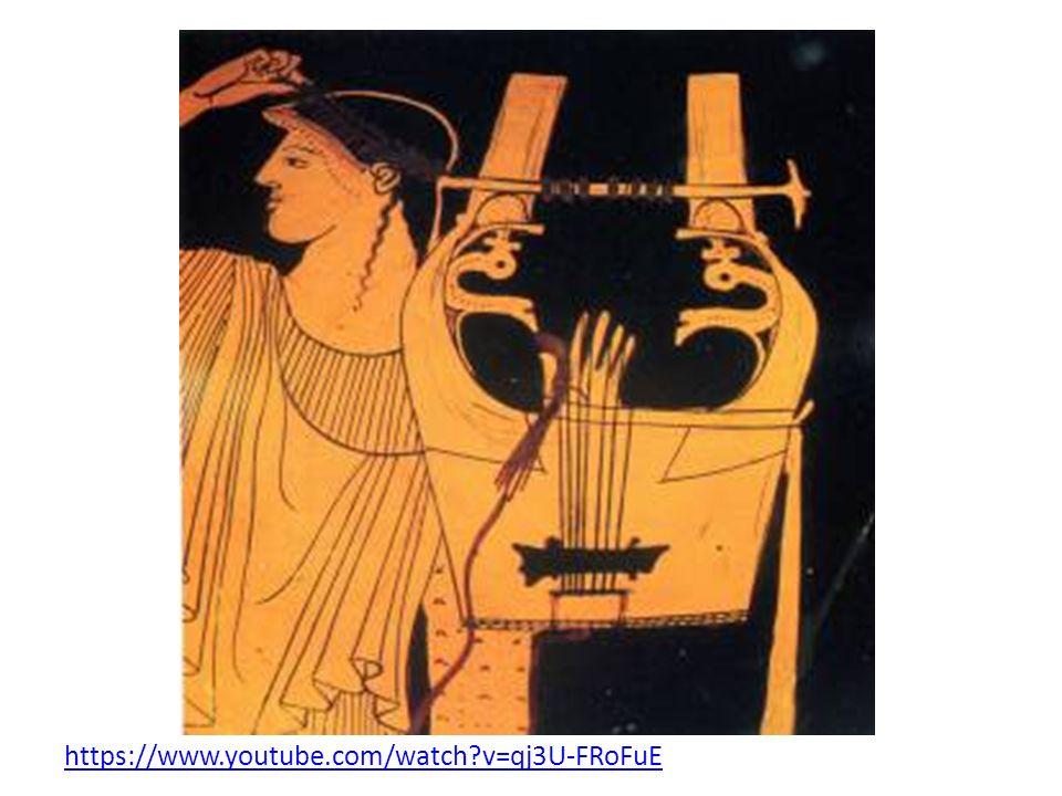 Instrumentarium Harfa to instrument w kształcie łuku, miała od 16-20 strun.