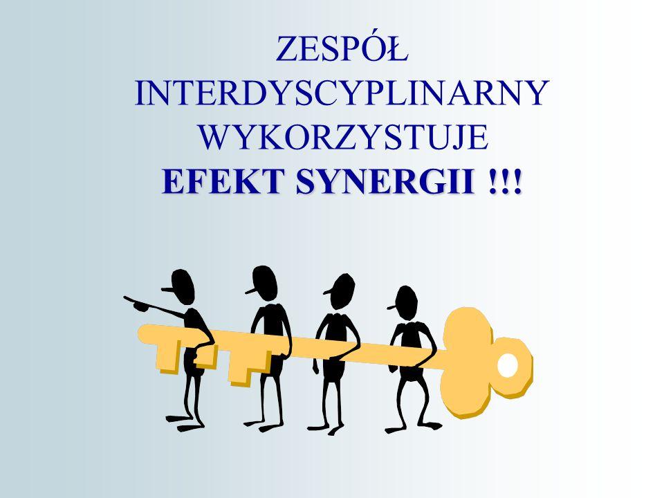 EFEKT SYNERGII !!! ZESPÓŁ INTERDYSCYPLINARNY WYKORZYSTUJE EFEKT SYNERGII !!!