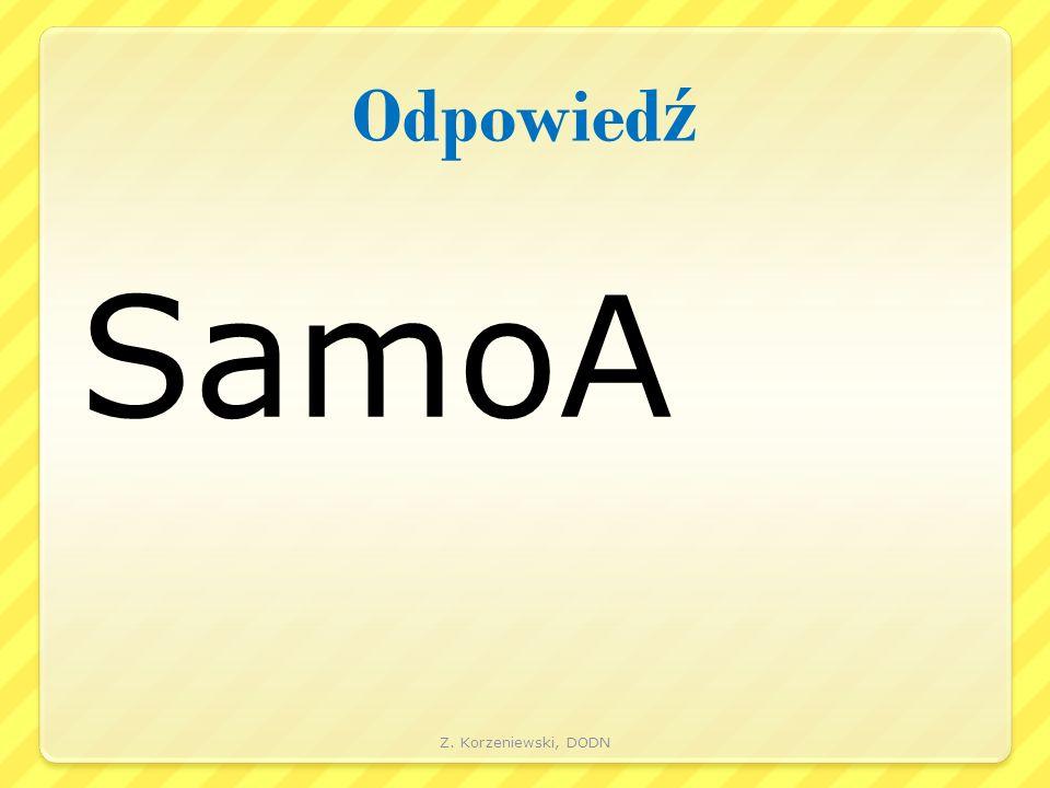 Odpowied ź SamoA Z. Korzeniewski, DODN