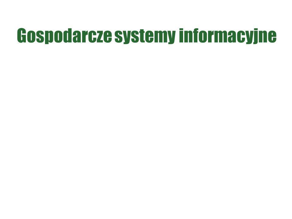 Gospodarcze systemy informacyjne