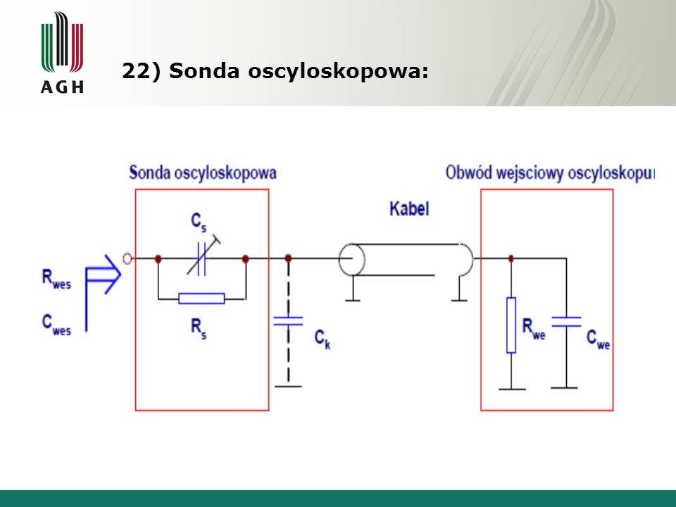 22) Sonda oscyloskopowa: