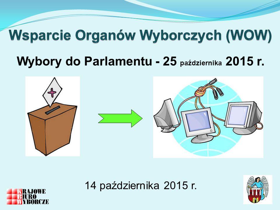 Wybory do Parlamentu - 25 października 2015 r. 14 października 2015 r.